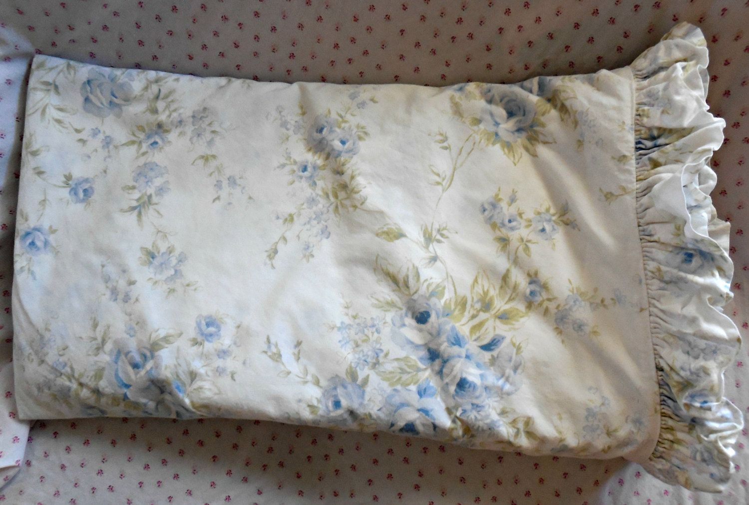 Vintage Rachel Ashwell Simply Shabby Chic Duvet Cover Two Shams Queen British Blue Roses Go Shabby Chic Duvet Cover Shabby Chic Duvet Simply Shabby Chic
