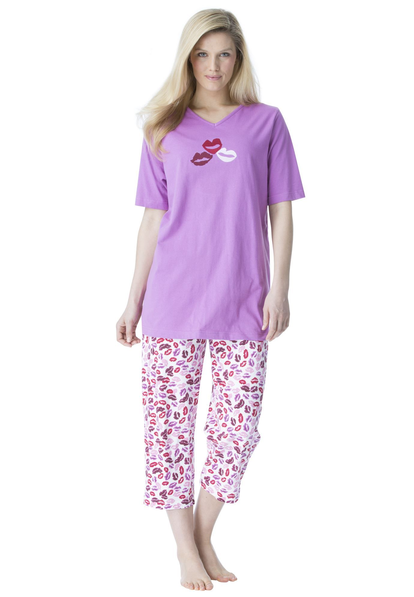 0d59f6f2061b This plus size pajamas set in soft