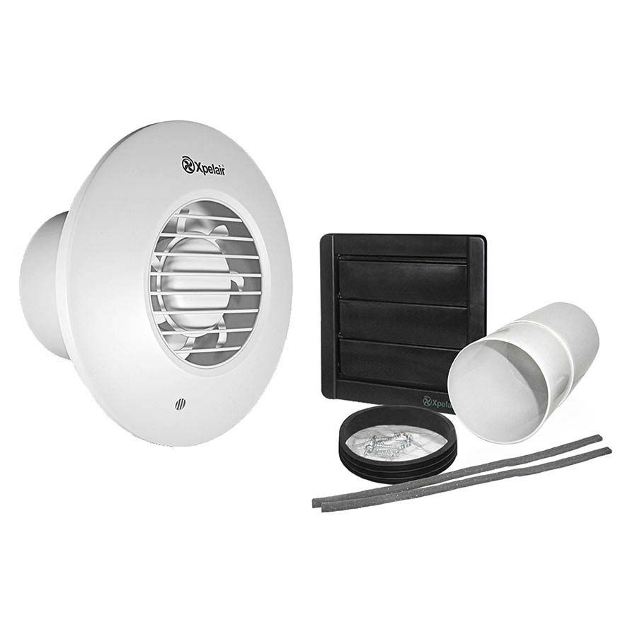 Shop The Xpelair Lv100 Simply Silent 4 Round Bathroom Extractor Fan With Timer And Wall Kit Online Suitabl With Images Extractor Fans Bathroom Extractor Fan Silent Timer
