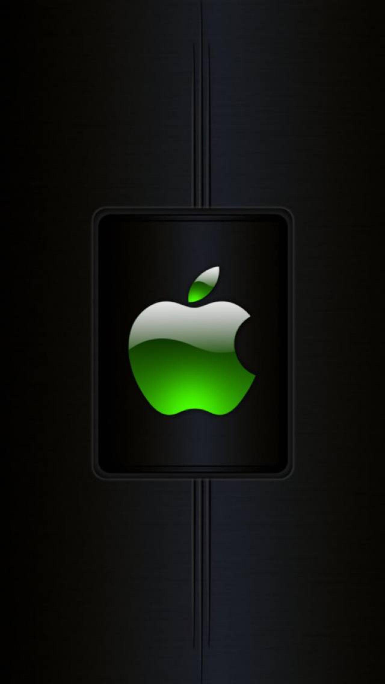 Green Badge Apple Apple Wallpaper Apple Logo Wallpaper Iphone Apple Wallpaper Iphone