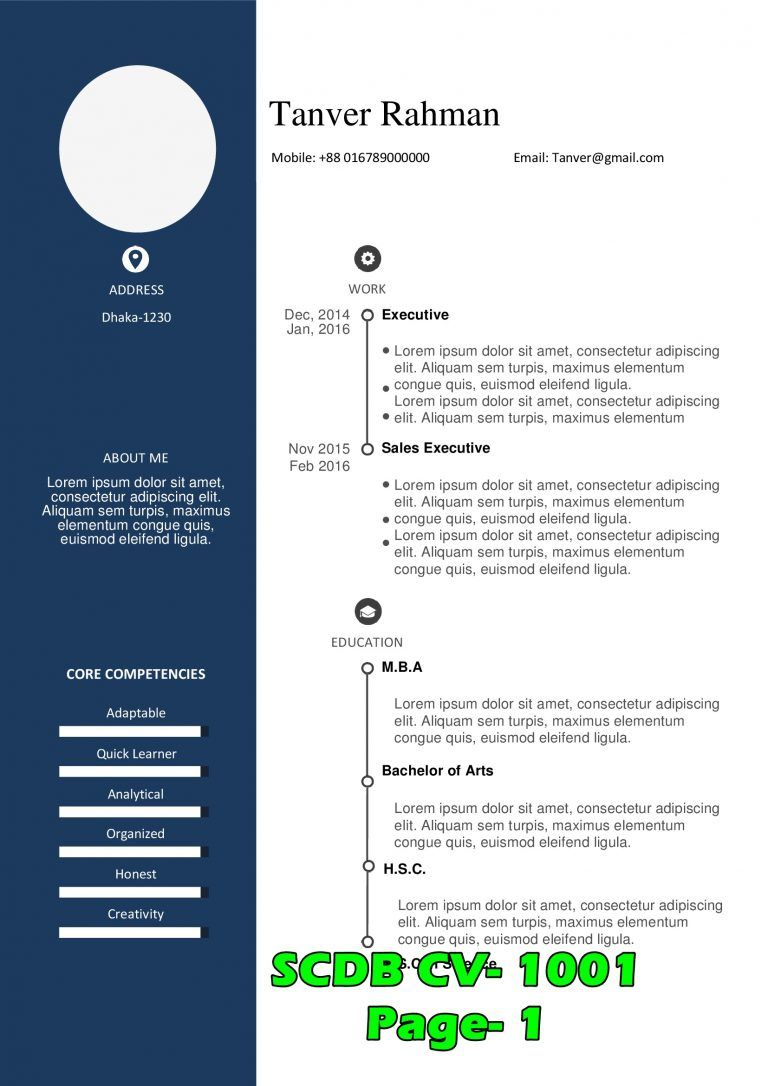 Cv For Bangladesh Entry 59 By Ahadur For Create Cv Template With Graphic Design Freelancer If You Have Alr In 2021 Cv Template Cv Format For Job Standard Cv Format