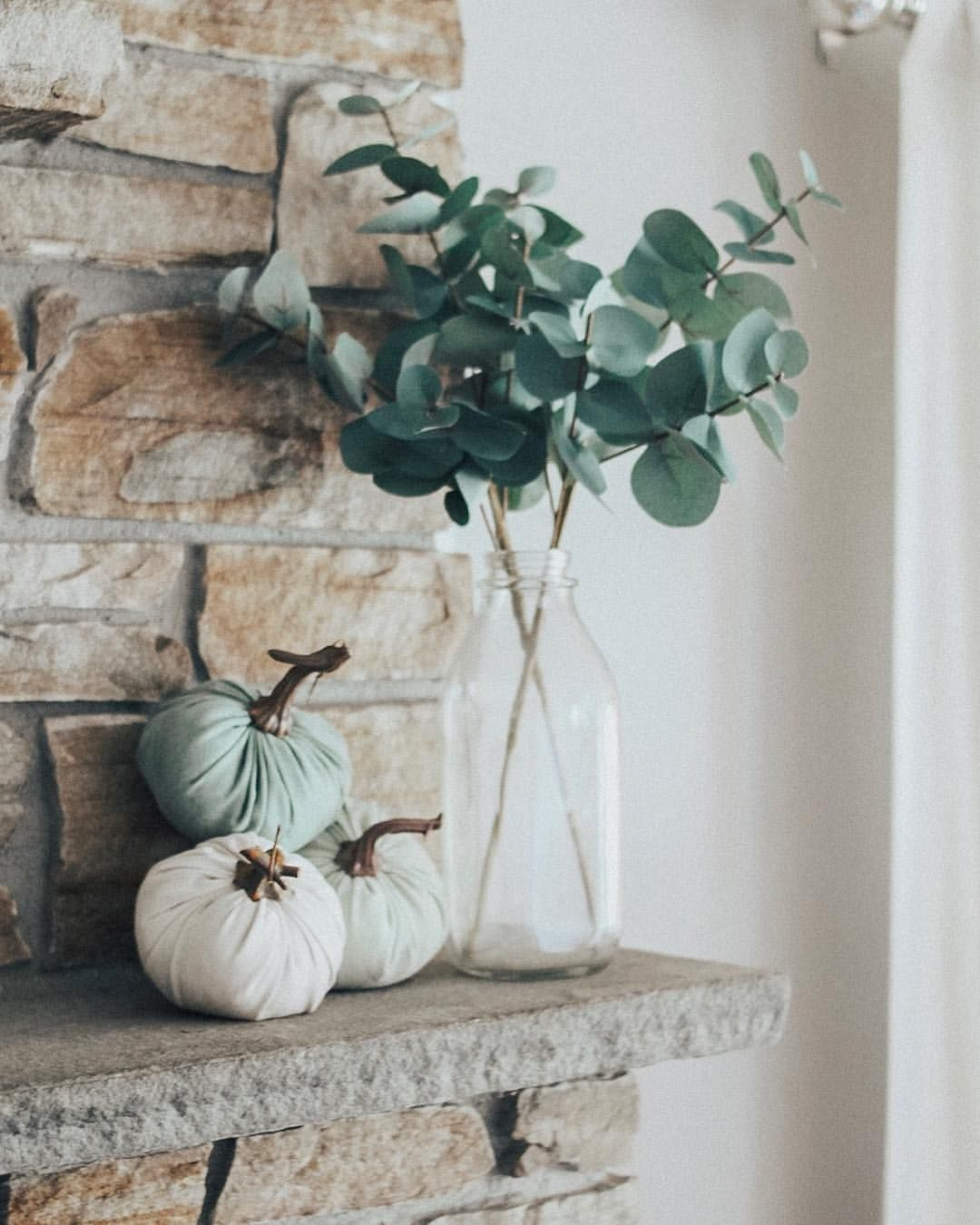 "kelsea | life with jordans on Instagram: ""Today has been the perfect fall day. It was feeling chilly in the house so I dug out some of our fall decor! Decorating for fall has to be…"" #fallmantledecor"
