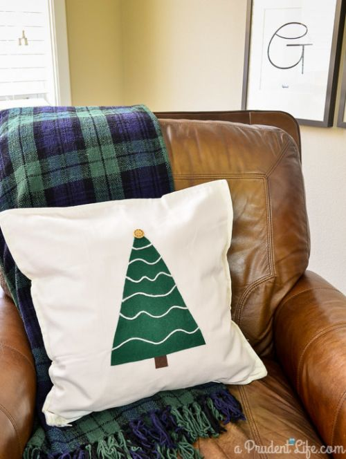 This Christmas tree pillow is probably the easiest thing you will do this year!