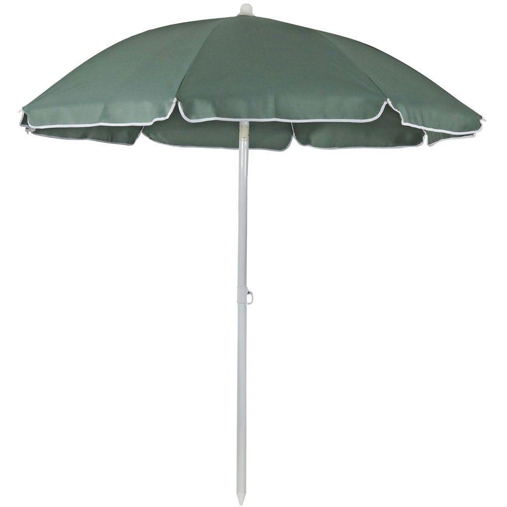 Steel Beach Tilt Umbrella 5 Sage Sunnydaze Decor Green