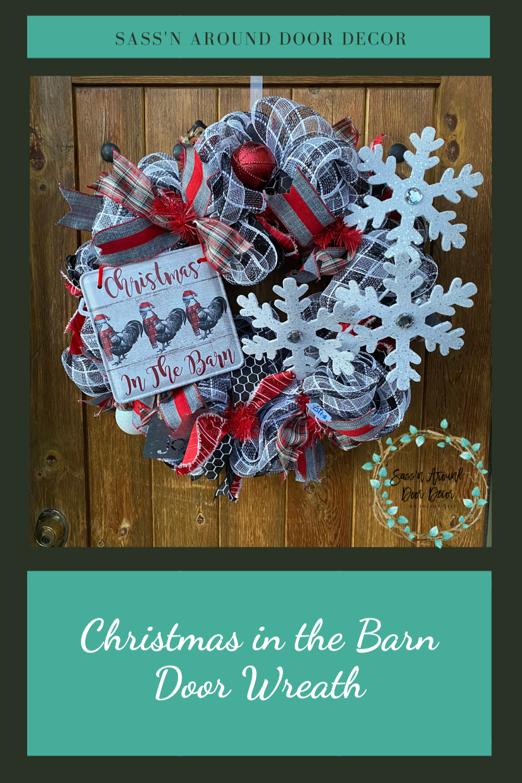 Christmas In The Barn 2020 Christmas in the Barn Christmas Wreath in 2020 | Christmas wreaths
