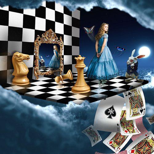 Alicia y el ajedrez http://themaskedlady.blogspot.com.es/
