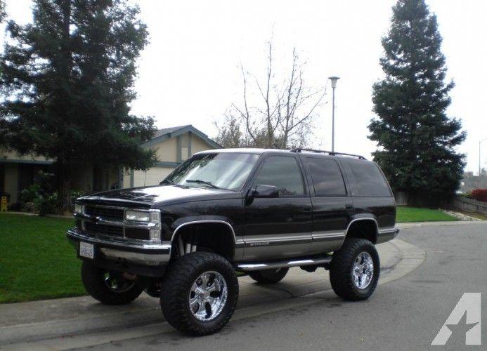 1999 Lifted Black Chevy Tahoe Suv Chevy Tahoe Tahoe Lt Chevrolet Suburban