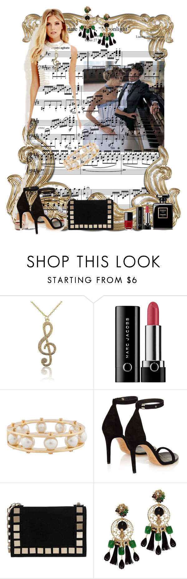 """PIANO COMPETITION (PLEASE READ!!!)"" by hanzaturgul ❤ liked on Polyvore featuring Chanel, Marc Jacobs, Lele Sadoughi, Isabel Marant, Tomasini and Mercedes Salazar"