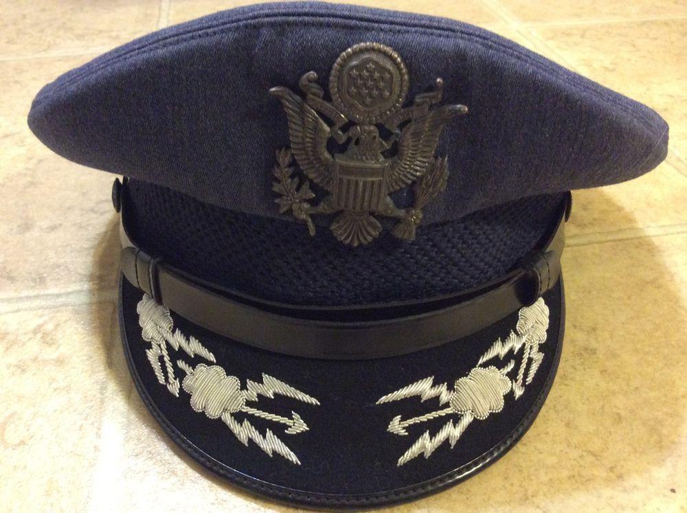 US Air Force USAF Colonel Service Dress Blues Hat Cap