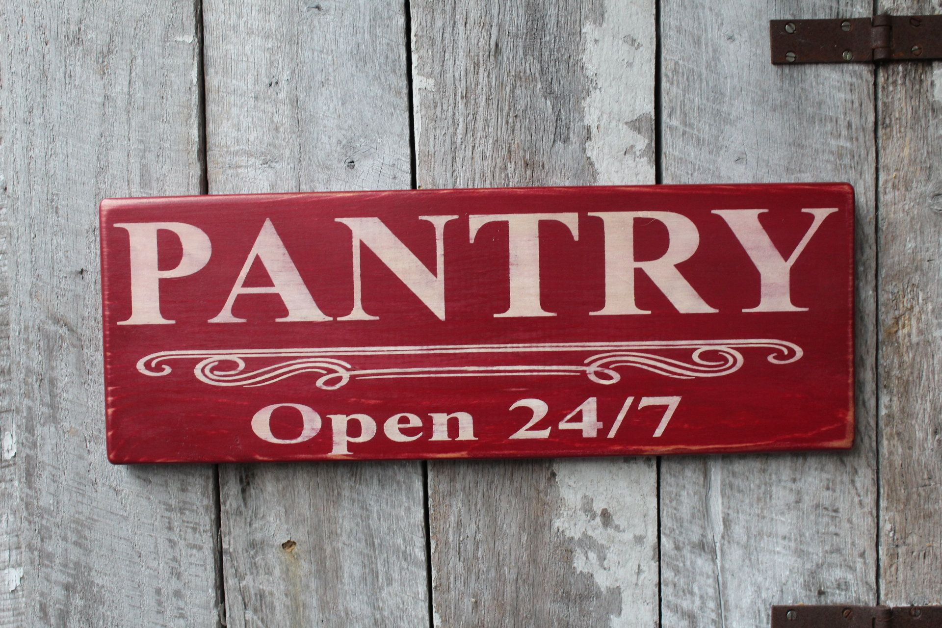 Pantry Open 24 7 Wood Sign Kitchen Wall Decor Funny Kitchen Etsy In 2020 Rustic Kitchen Wall Decor Kitchen Signs Kitchen Wall Decor Farmhouse