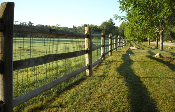vinyl coated welded wire fence on wood post & Raul | gardening ...