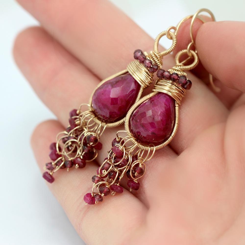 Scarlett Jewelry - Handmade Designer Jewels: Ruby and Garnet Earrings, Earrings