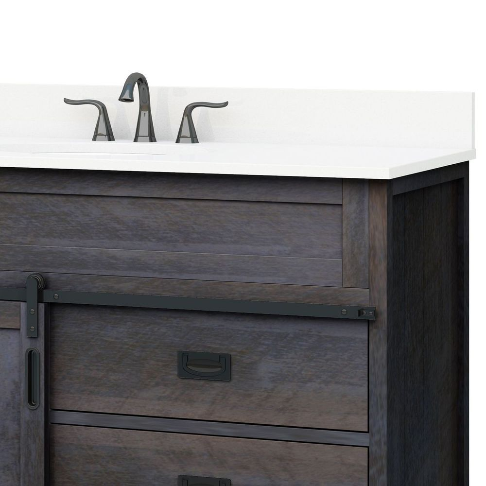 Style Selections Morriston 48 In Distressed Java Single Sink Bathroom Vanity With White Engineered Stone Top Lowes Com Single Sink Bathroom Vanity Bathroom Vanity Bathroom Sink Vanity