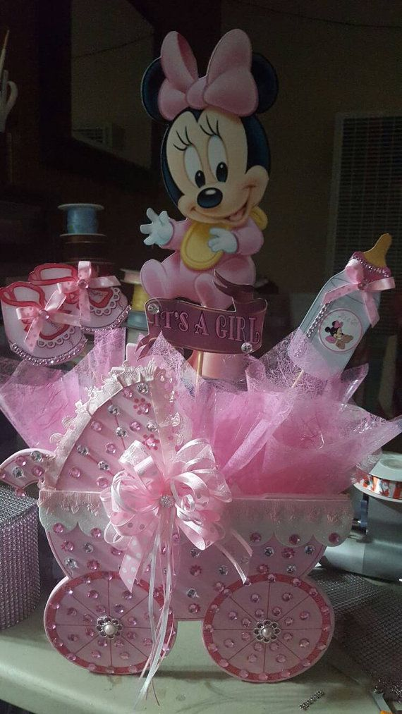 Baby Minnie Mouse Inspired Centerpiece Baby By BabyPartyBoutique