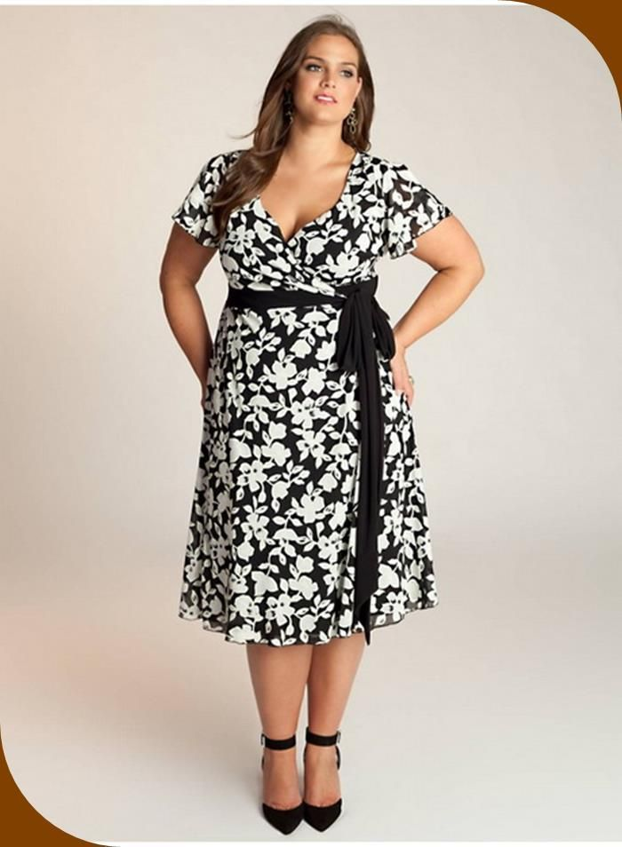 Overweight Woman in a Dress