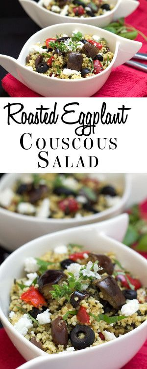 Roasted Eggplant Couscous Salad - Erren's Kitchen
