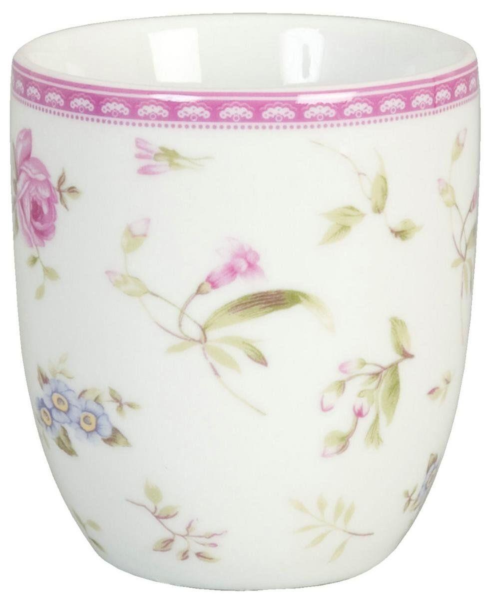 Clayre & Eef Kaffee Tasse Cup Becher Porzellan ~ ELEGANT ROSE ~: Amazon.de: Küche & Haushalt