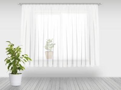 Firanka Gotowa Do Salonu 180x700 Cm Woal Bialy Home Decor Decor Curtains