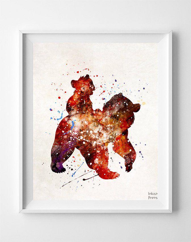 Kenai and Koda, Brother Bear Print | Dibujos y Pinturas | Pinterest ...