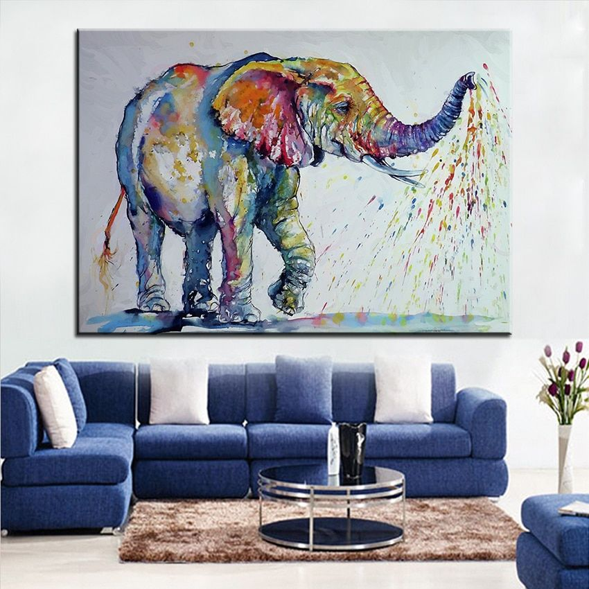 Cheap Decorative Pictures Buy Quality Picture For Living Room Directly From China Elephant Wall Painting Suppliers Painting Small Canvas Art Elephant Painting
