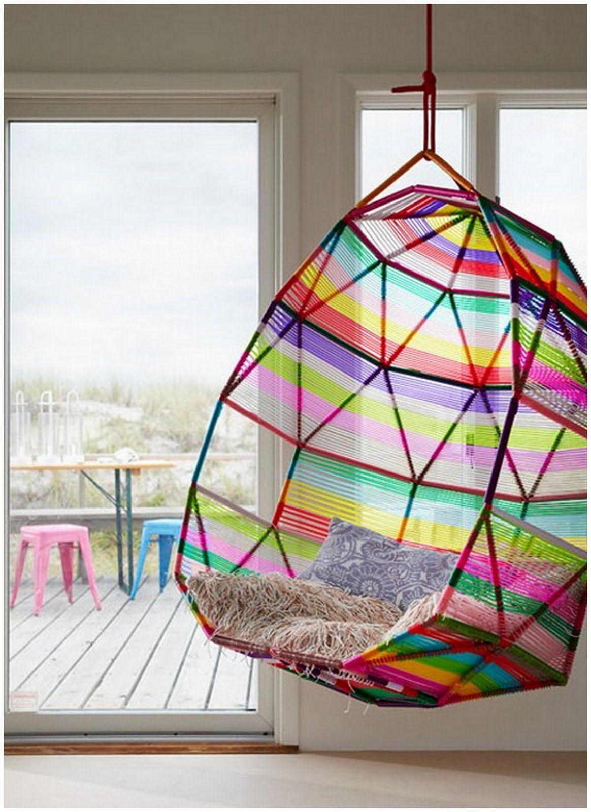 rainbow swing chair Kinderzimmer einrichten junge