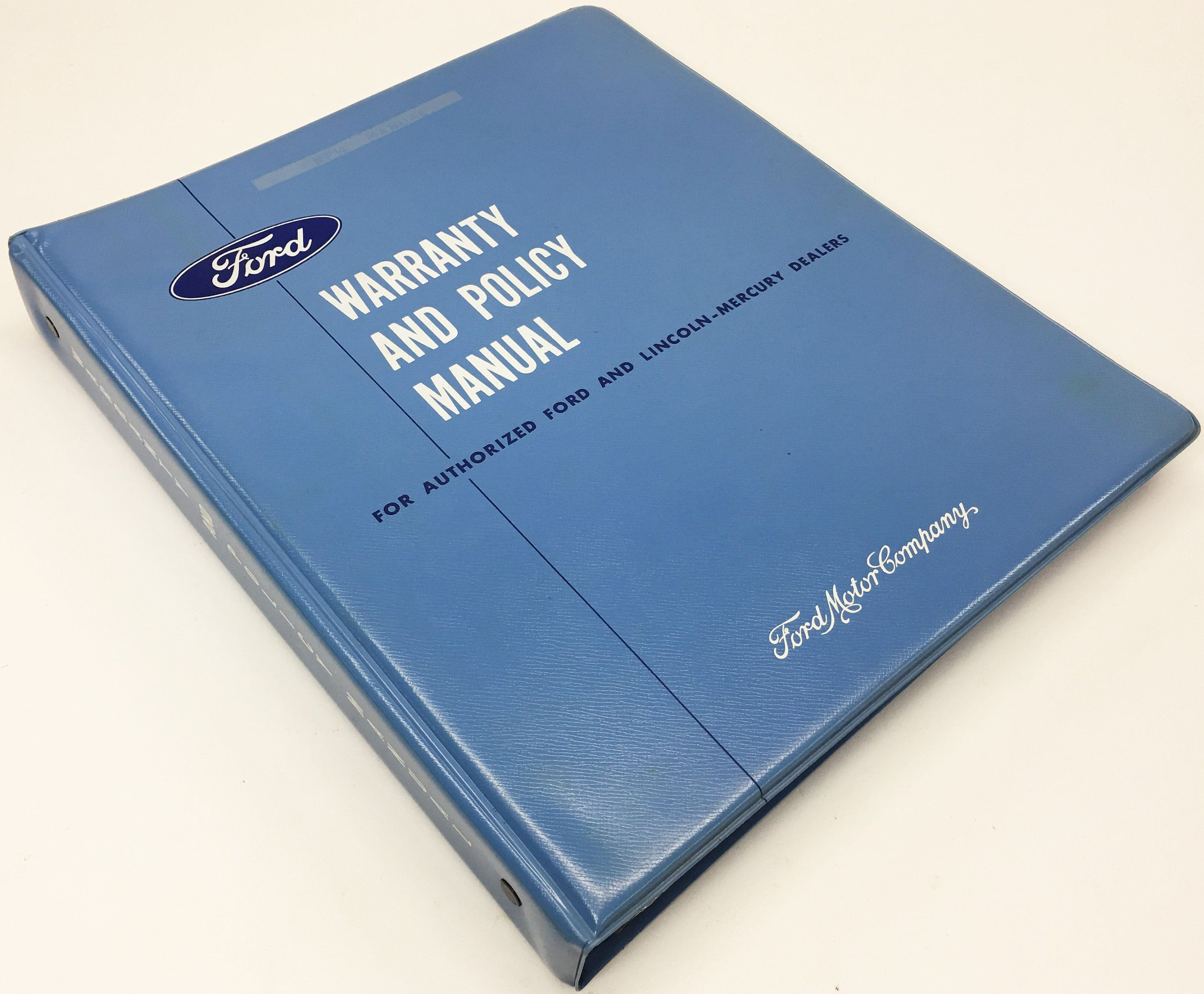 Vintage 1965 Ford Dealership 104 Page Internal Warranty Policy Manual Binder Dealership Ford Ebay
