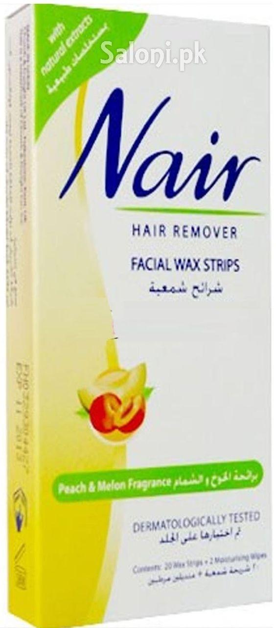 Nair Hair Remover Facial Wax Strips With Peach Melon Fragrance Wax Strips Facial Waxing Hair Removal