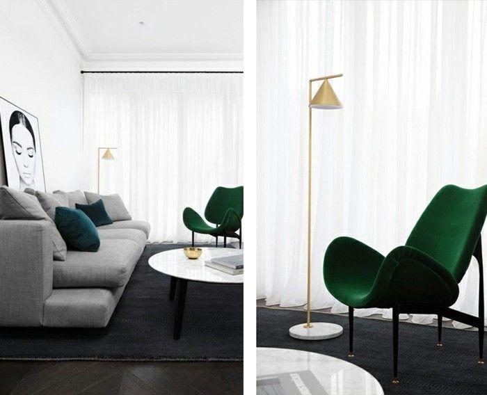 Wohnzimmerwand Grün ~ Wohnzimmer grun gestalten grün farbideen wandgestaltung rosa