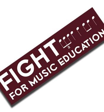 Fight for music education bumper sticker