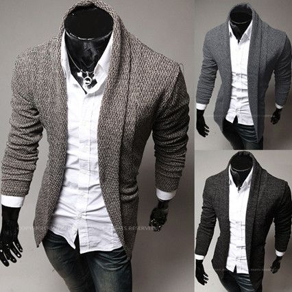 Modern Men Fashion Design Button-less Cardigan – Sneak Outfitters ...