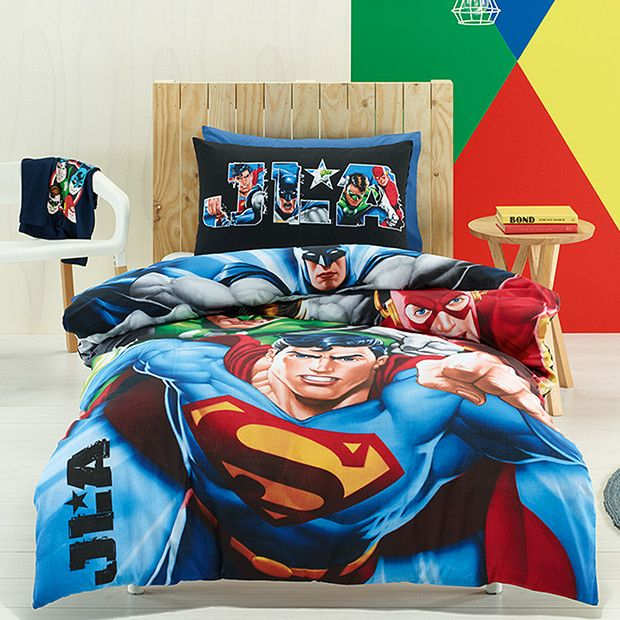 justice league quilt cover set | ayden's bedroom ideas | pinterest