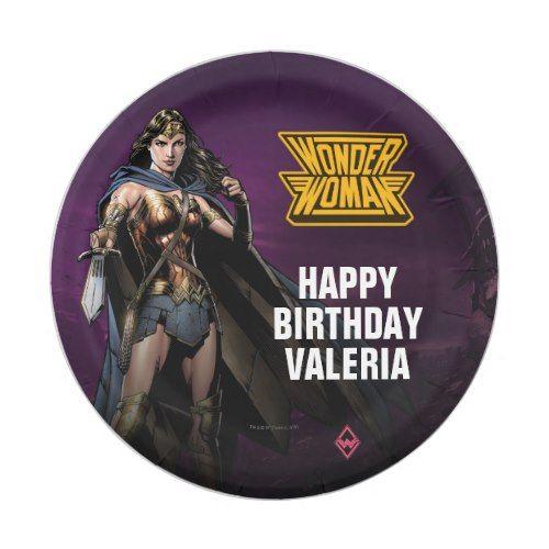DC Comics Wonder Woman Birthday Paper Plate Superhero Birthday