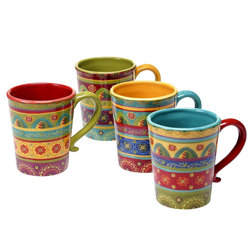 1887d5b70b0 Certified International Tunisian Sunset 4-pc. Coffee Mug Set, Multicolor