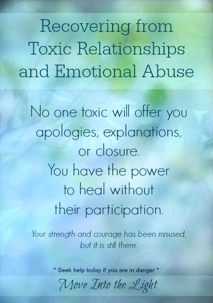 Recovering from Toxic Relationships and Emotional Abuse ...