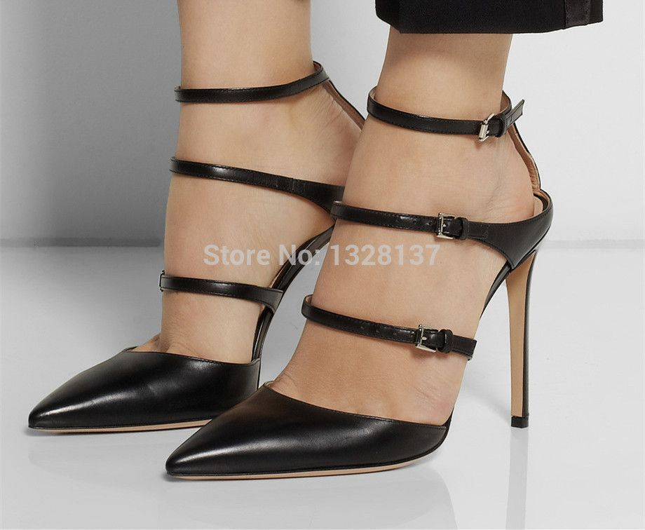 Black Comfortable Platform Sandals Pumps New Designer Heels For ...