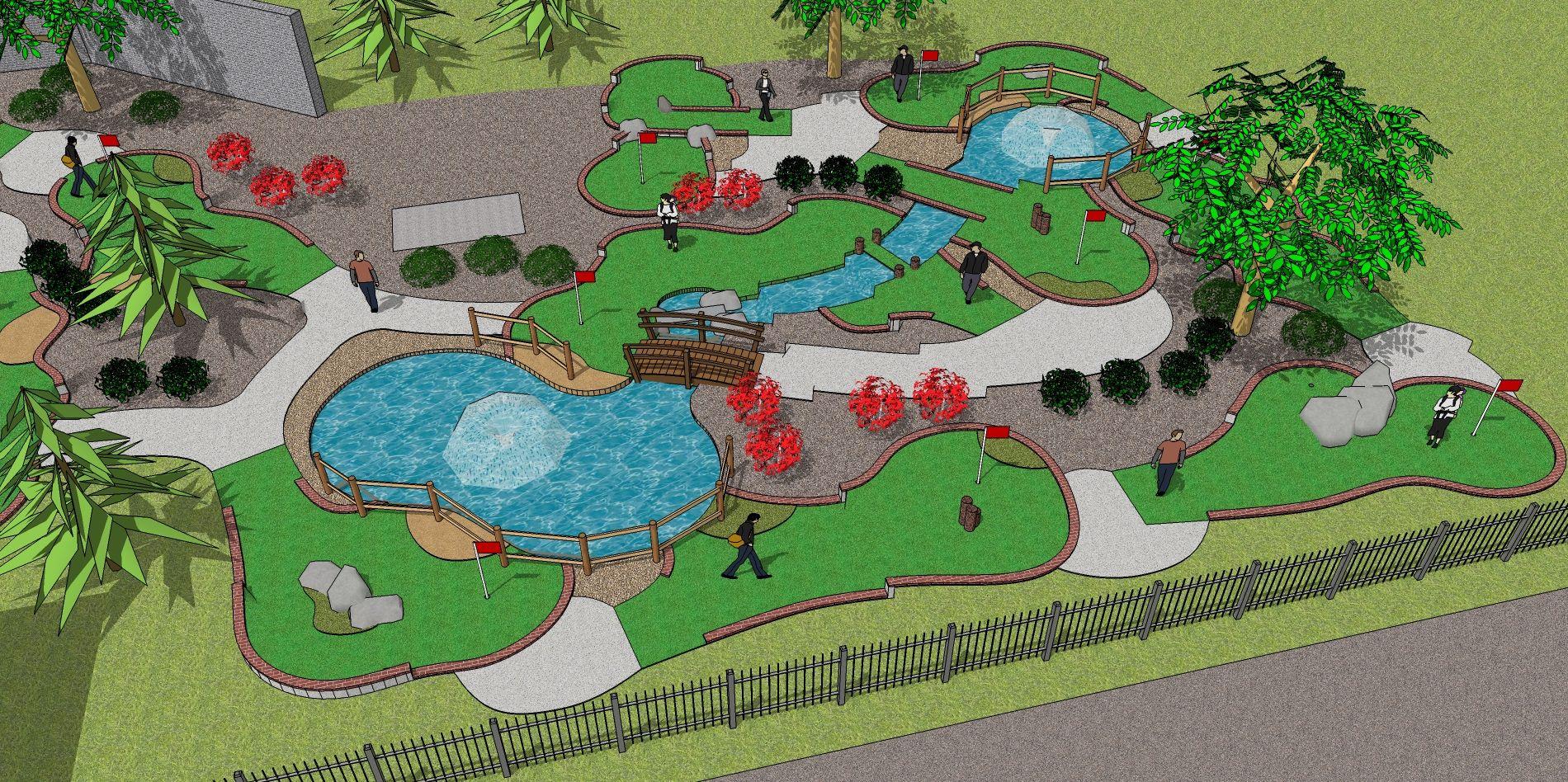drawings of mini golf courses for permits - Google Search | mini ...