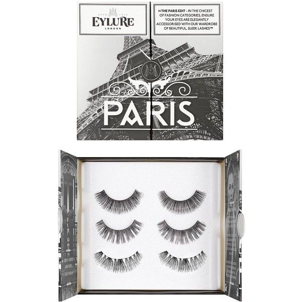 Eylure Lash Wardrobe Paris (53 BRL) ❤ liked on Polyvore featuring beauty products, makeup, eye makeup, false eyelashes, eylure and eylure false eyelashes