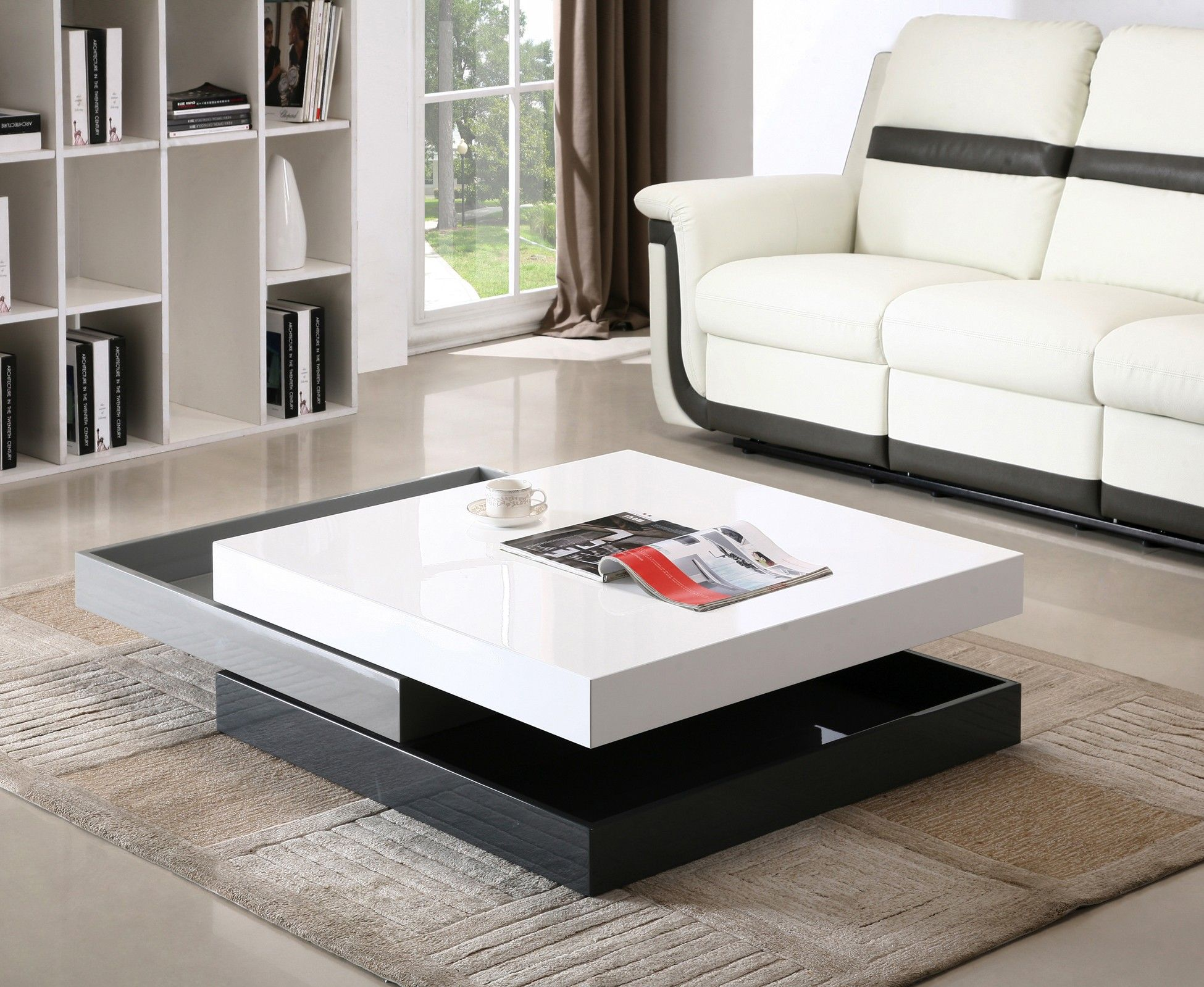 J & M Modern Rotary Coffee Table 3 Levels CW01