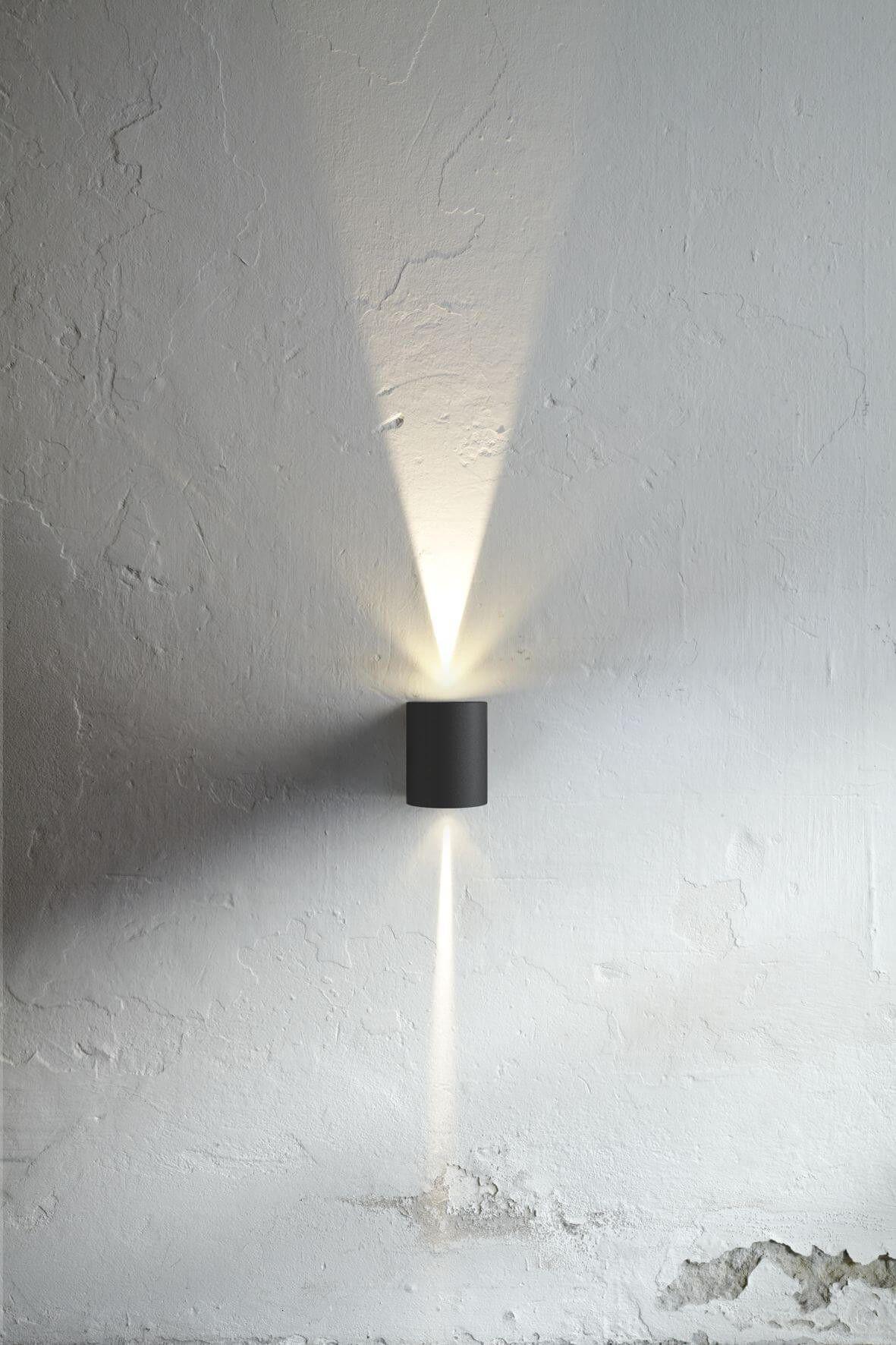 Moderne wohnideen außen außenwandlampe karo rund schwarz  lighting  pinterest  lighting