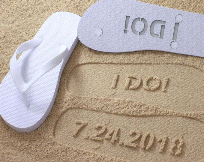 b9cba81de Custom Bridal Flip Flops Wedding Date  check size chart
