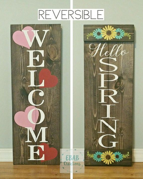 Reversible Sign Welcome Sign Valentine S Day By