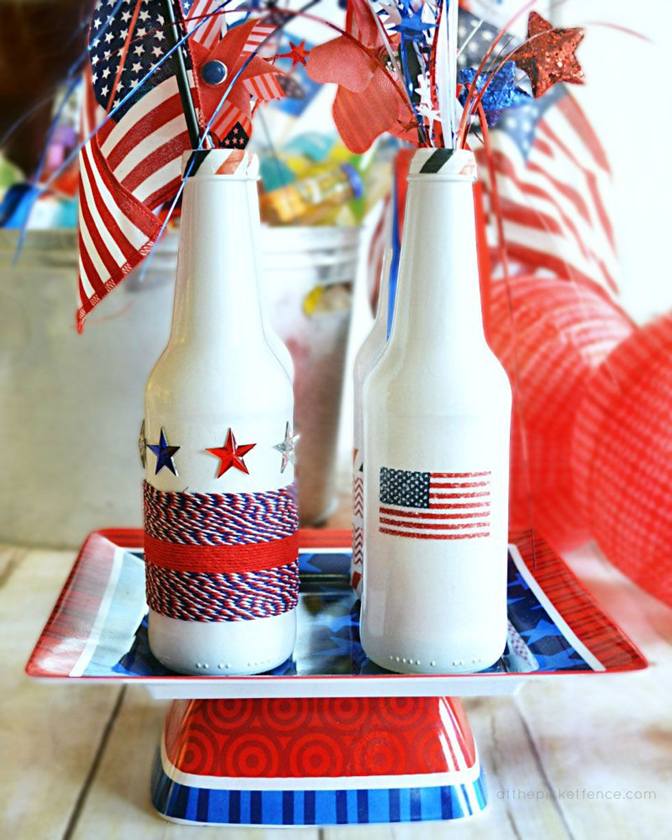 Red White And Blue 4th Of July Crafts To Get In The Holiday Spirit Patriotic Centerpieces 4th Of July Decorations July Crafts