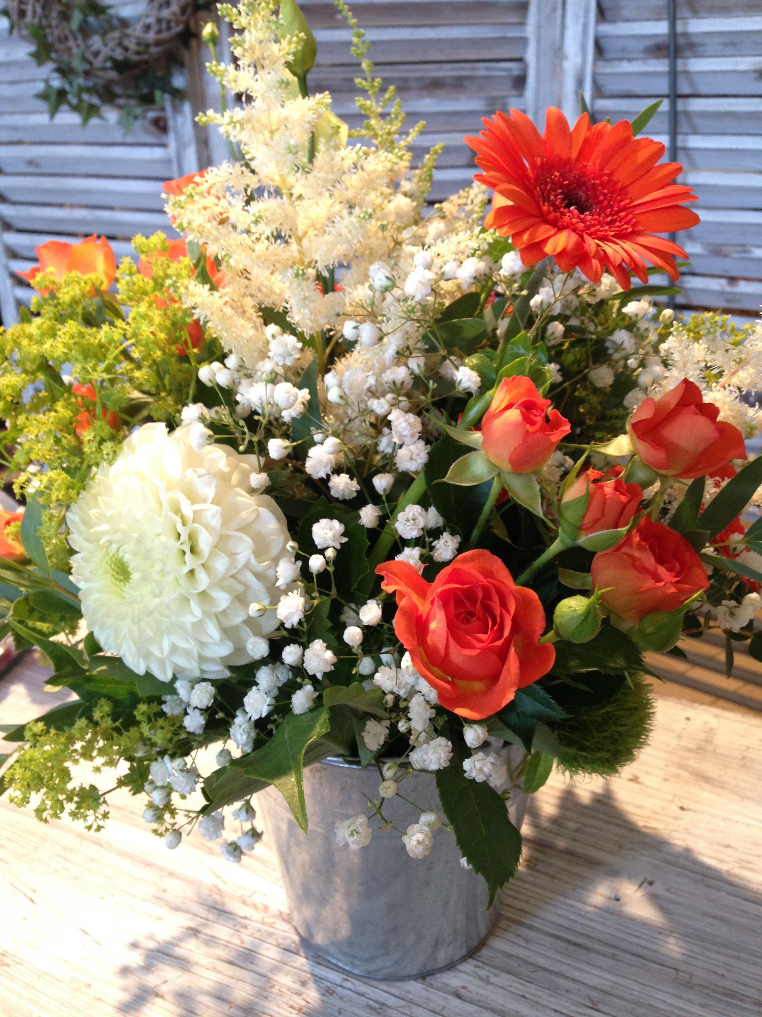 Centre de table champêtre  #wedding #dahlia #centredetable