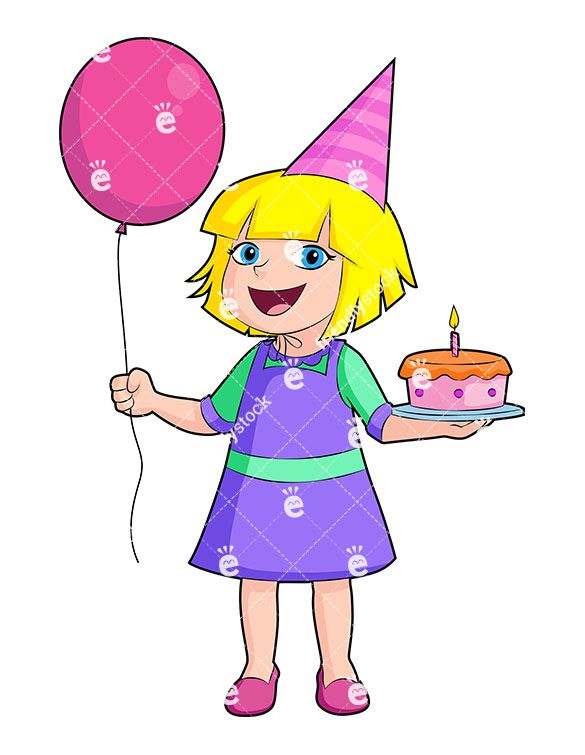 happy birthday girl cartoon vector clipart rh br pinterest com birthday girl clipart free cute birthday girl clipart