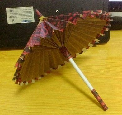 3d origami umbrella | Ornament - Umbrella | Origami and PaperCraft – Origami Paper Club