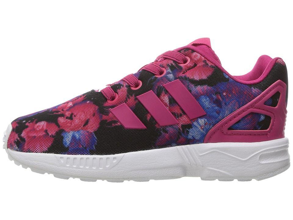 182a4b3c8 adidas Originals Kids ZX Flux (Toddler) Girls Shoes Bold Pink Bold Pink Footwear  White