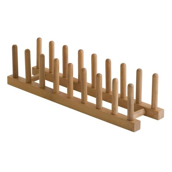 Lipper Bamboo Plate Rack/Pot Lid Holder 887 - The Home Depot
