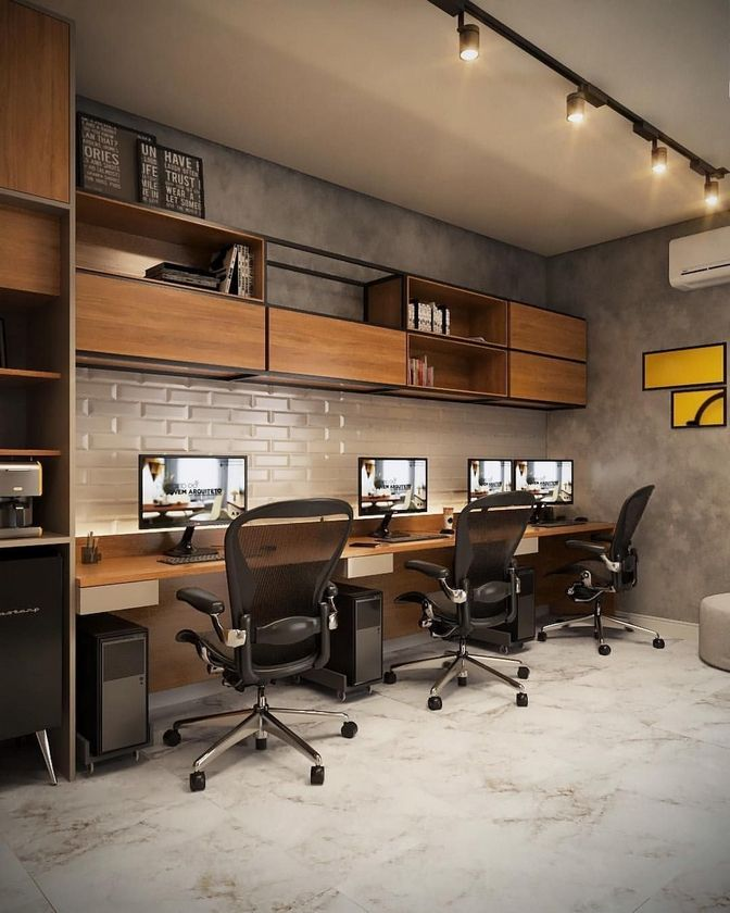 100 Elegant Modern Office Design Inspirations Modern Office