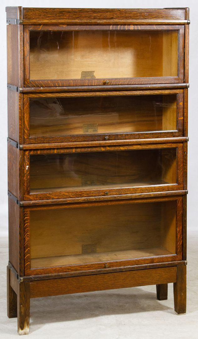 Lot 67 Oak Barrister Bookcase By Globe Wernicke Four Section
