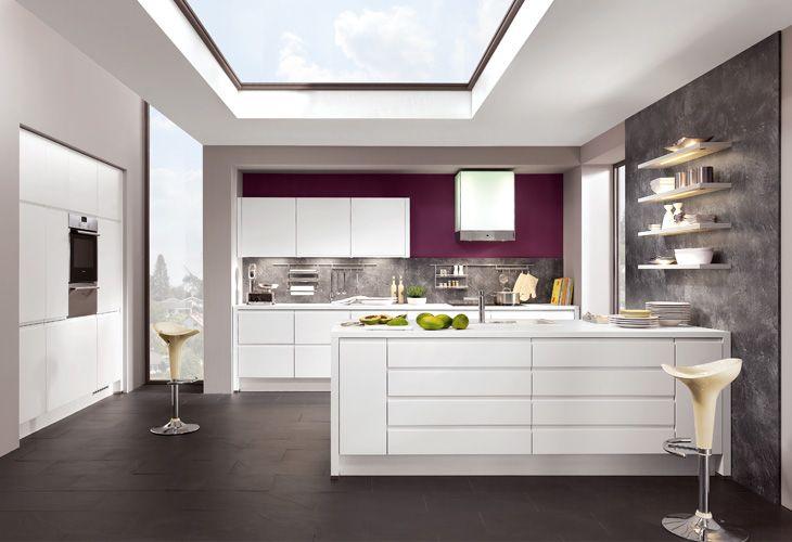 Designküche küche in weiß designküche kücheninsel dyk360 kuechen de